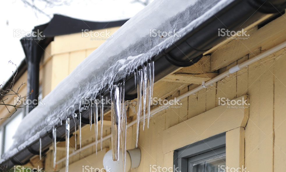 Ice in Gutters