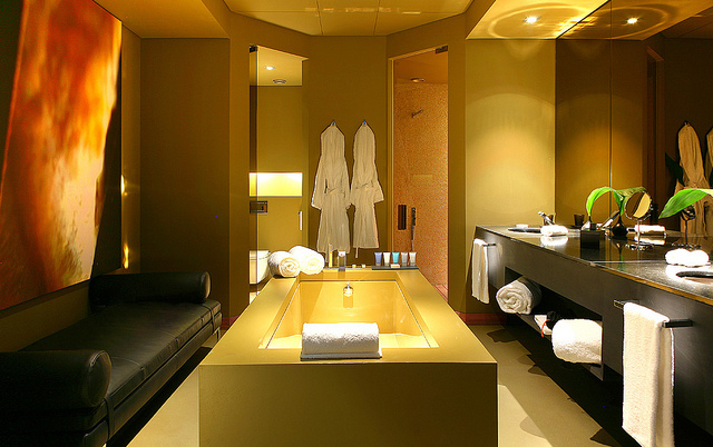 Spa Centered Bathroom - Image Credit: https://www.flickr.com/photos/eager/6007712376